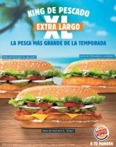 KING de pescado XL de burger king