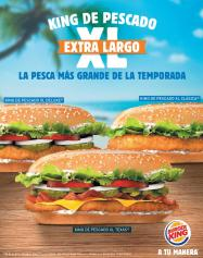KING de pescado XL de burger king