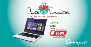 LAPTOP Acer en oferta 500GB disco duro y 4GB de memoria ram