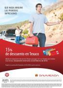 Lunes 15 off en gasolina TEXACO gracias a davivienda - 22feb16