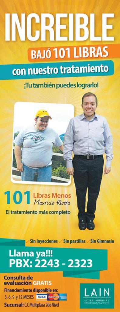 Mauricio Rivera bajo 101 libras con este metodo