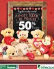 PELUCHES con 50 off en super selectos para el dia de los enamorados 2016