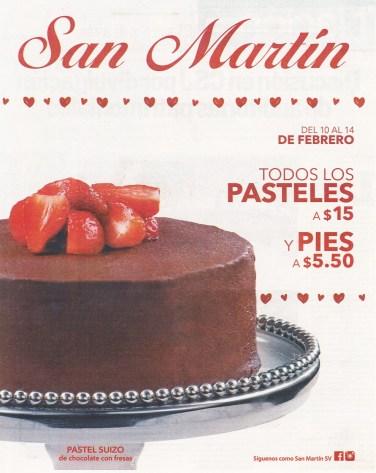 Pastel suizo de chocolate con fresas SNA MARTIN ofertas de san valentin 2016