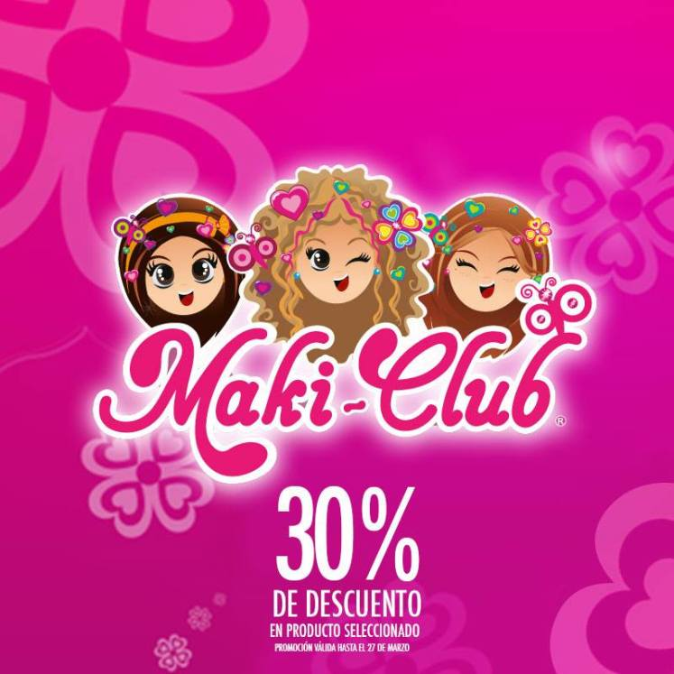 Promocion especial en SIMAN productos MAKI CLUB for girls