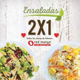 RED mango el salvador TODOS los jueves febrero 2016 ENSALADAS 2x1