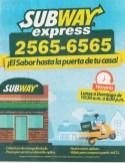 SUBWAY EXPRESS servicio a domicilio el salvador