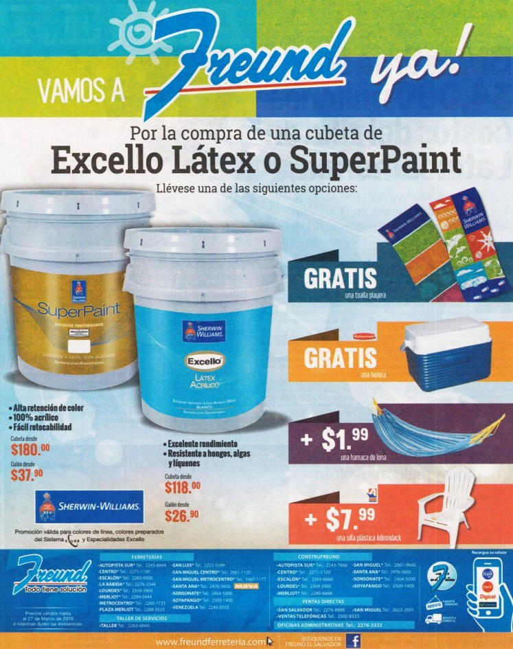 SUMMER super paint 2016 freund and sherwin williams