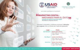 Seminario de marketing digital para mujeres emprendedoras FEBRERO 2016