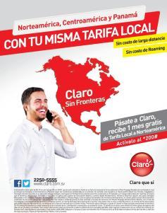 Una sola tarifa en tu red claro desde CANADA hasta PANAMA