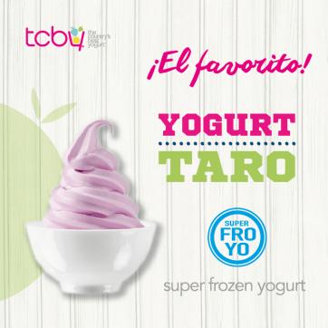 YOUGURT TARO super frozen yogurt gracias tcby