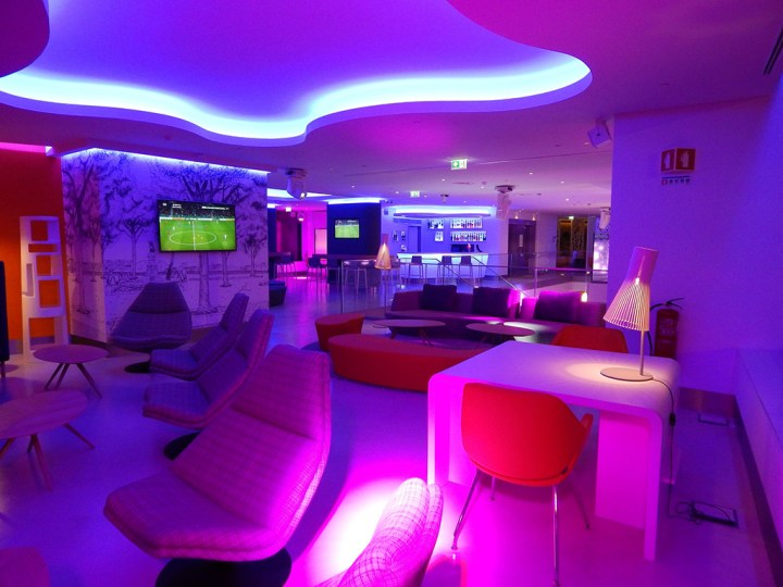 decoracion de hoteles con luces led