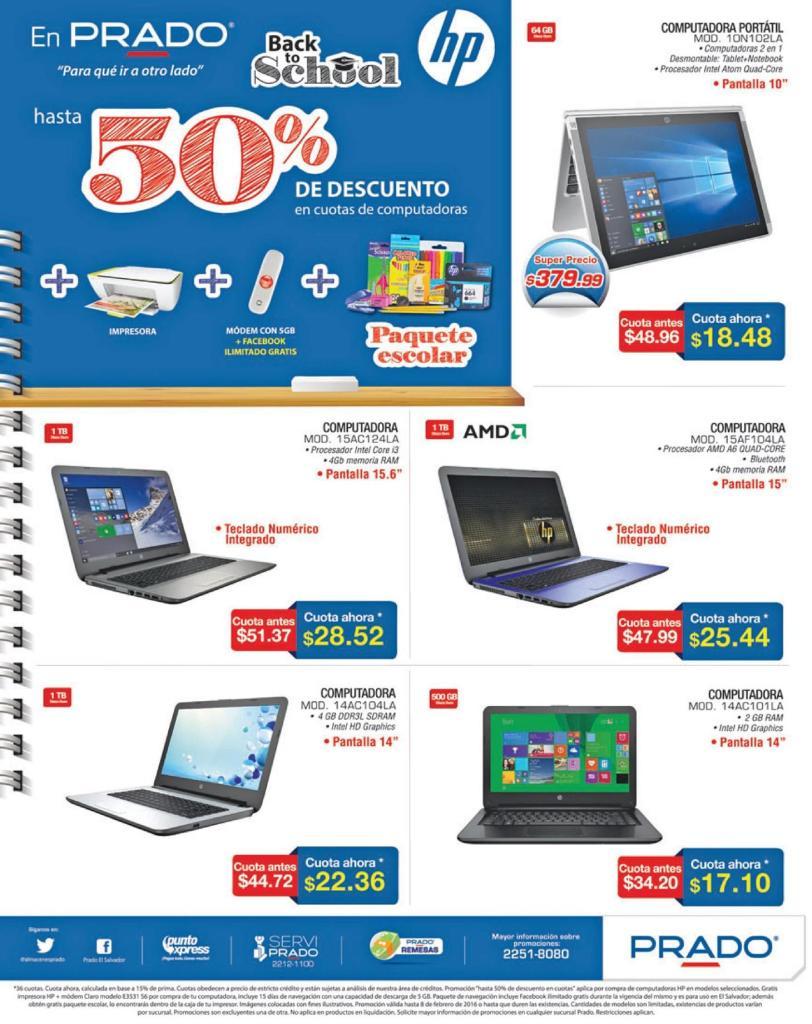 ofertas en PRADO Computadoras laptop con procesador AMD - Febrero 2016