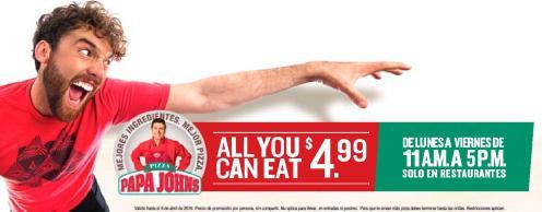 ATRAPA esta promo para comer toda la pizza que puedas