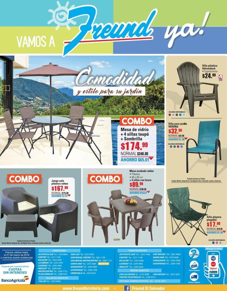 COMBOS de muebles de jardin FREUND vacaciones - 18mar16