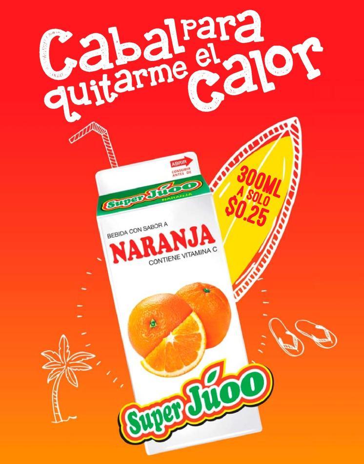 Como se quita el calor de verano con SUPER JUOO de naranja