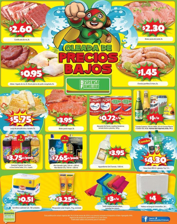 Despensa familiar en sodas carnes toallas frutas - 18mar16