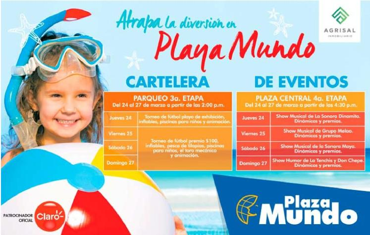 Diversion garantizada en PLAYA MUNDO en plaza mundo