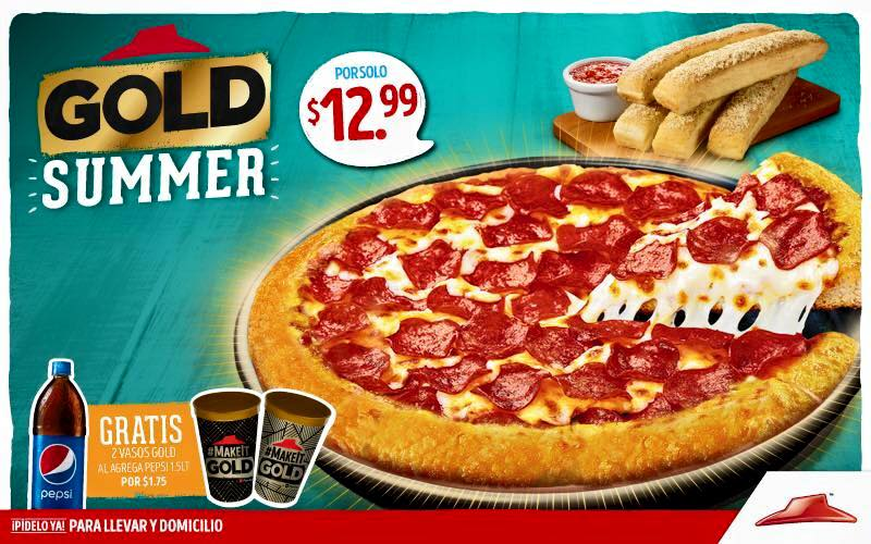 GOLD summer pack pizza hut el salvador