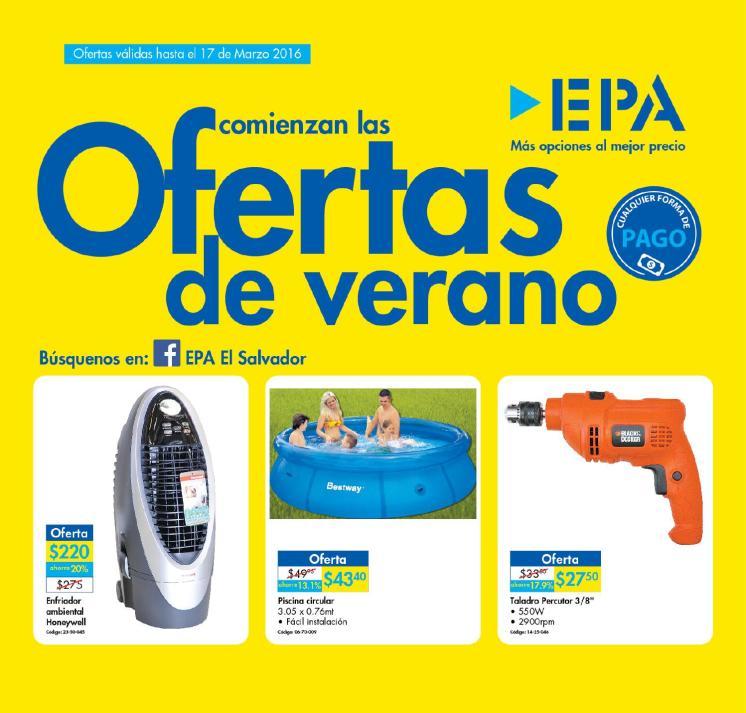 Inciaron las ofertas de VERANO 2016 en Ferreteria EPA el salvador