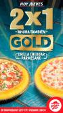 JUEVES 2x1 en PIZZA HUT GOLD disfrutala
