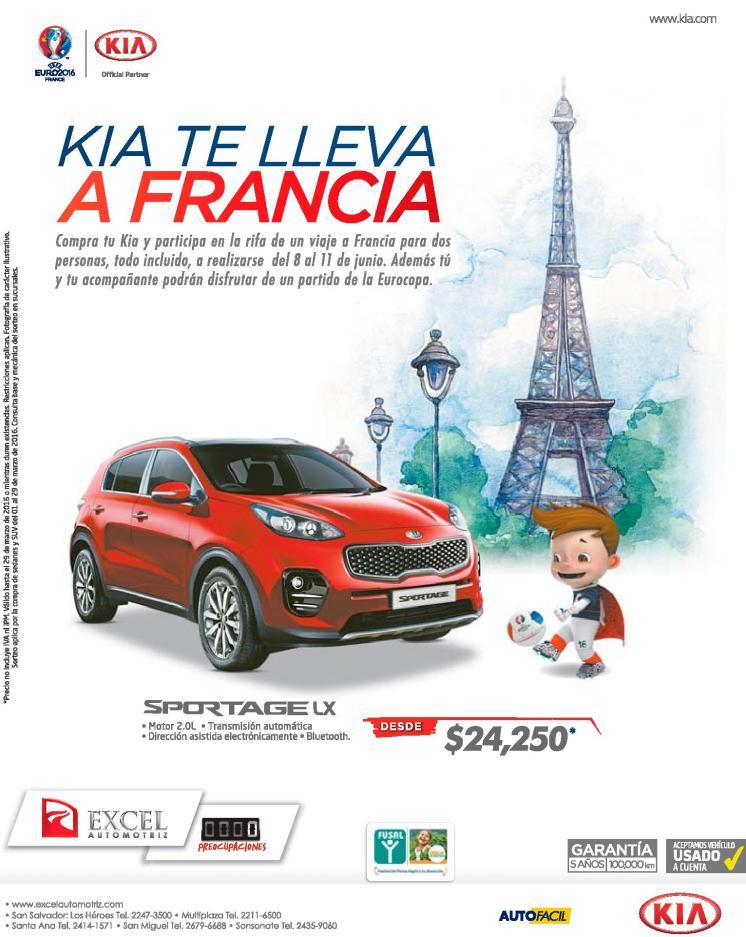KIA motors te lleva a la EURo 2016