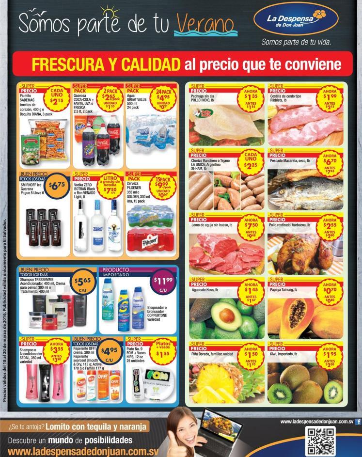 Los precios mas convenientes en vacaciones en LA DESPeNSA de dON JUAN - 18mar16