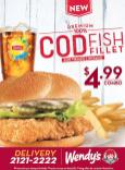 NEW premium burger COD Fish Fillet wendys
