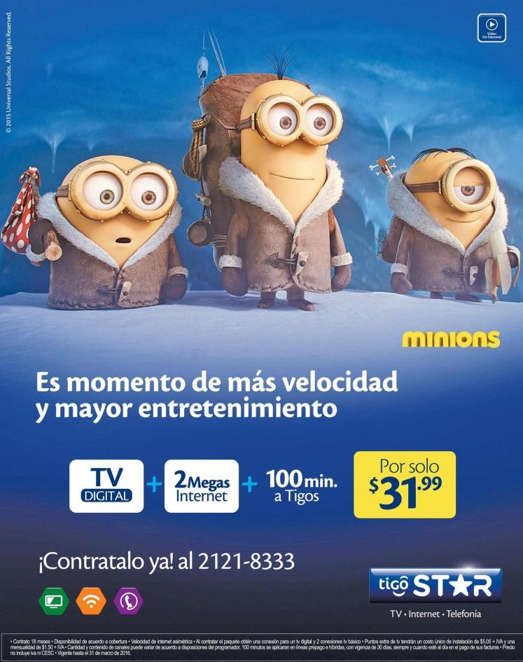 Promociones de cable e internet de tigo el salvador