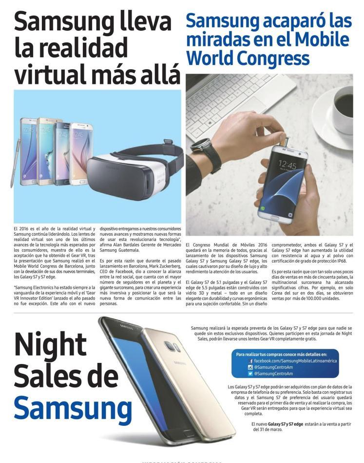 TODAY night sales  SAMSUNG S7 edge con realidad virtual