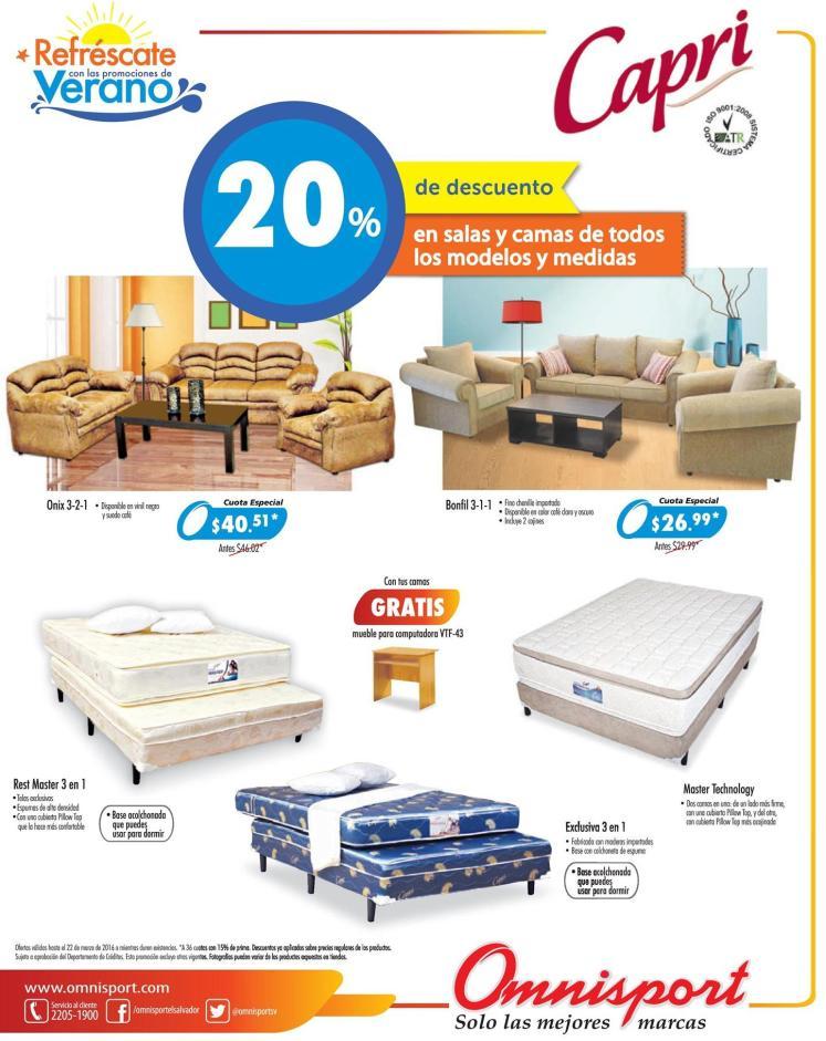 Todo losmodelos y tamanos de camas con 20 off en almacenes omnisport
