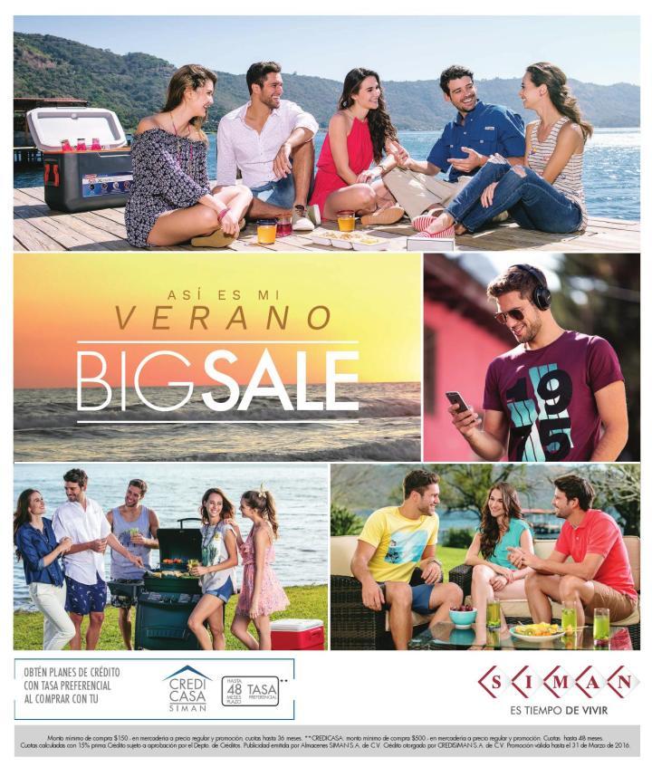 Verano BIG SALE de almacenes siman el salvador 2016