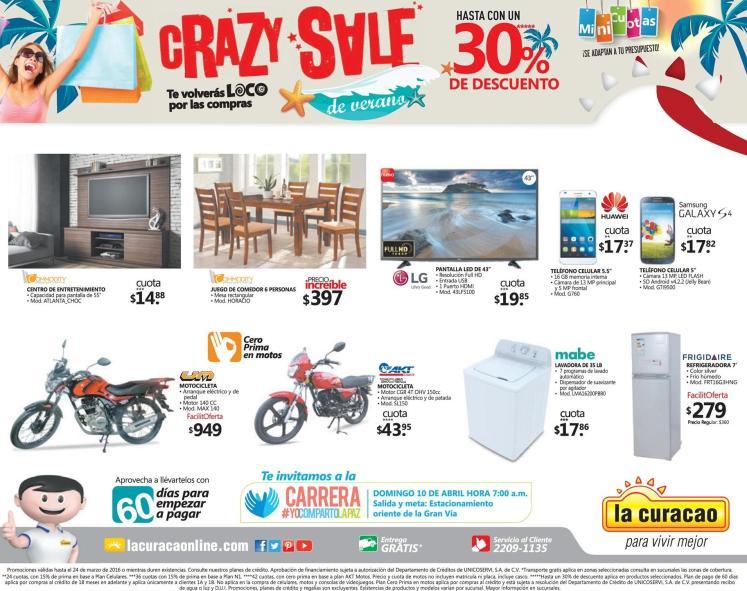hasta 30 off en almacenes LA CURACAO summer crazy sale 2016