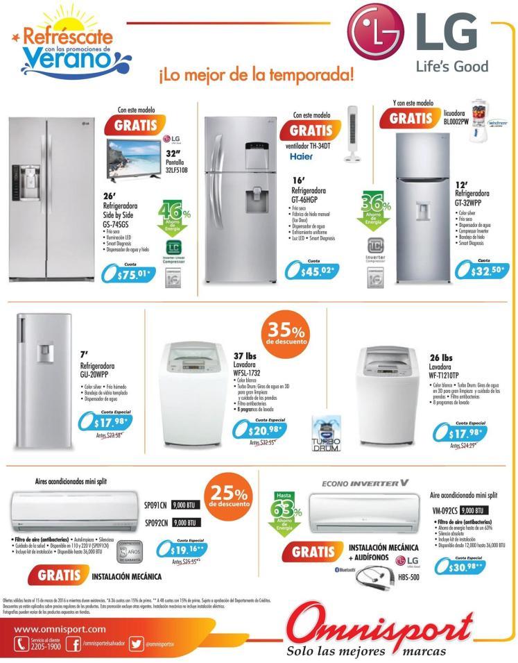 refrigeradores y aires acodicionados en ofertas OMNISPORT - 11mar16