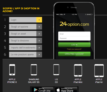 trading mobile app binary options