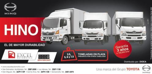 Caminiones de carga y trabajo HINO toyota