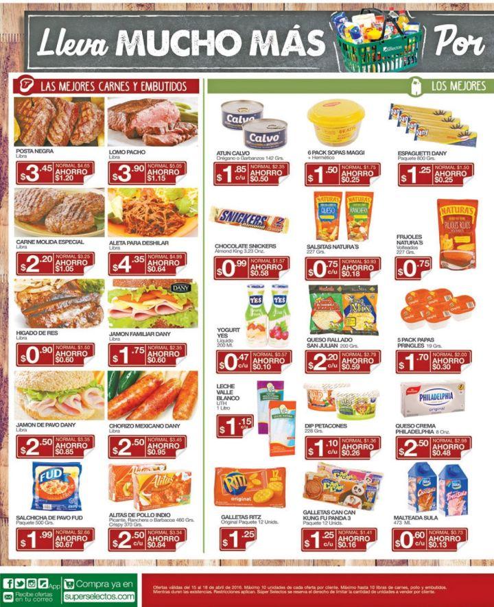 Comidas siempre lista y deliciosas con promociones Super Selectos - 15abr16
