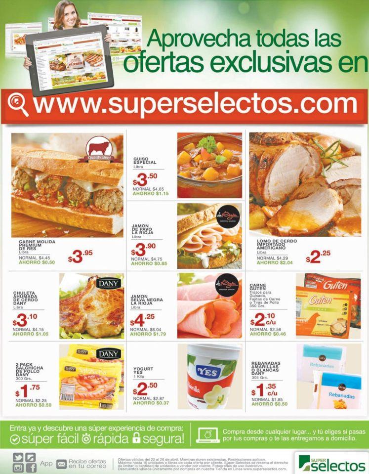 Cuales son las ofertas online del Super Selectos ahora viernes - 22abr16