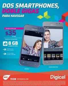 Disfruta de la promocion DIGICEL con dos smartphones