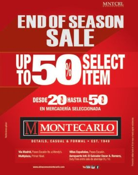 End of season sale UP TO 50 off selected items