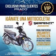 FACIL ganarse una moto gracias a PRADO clientes VIP