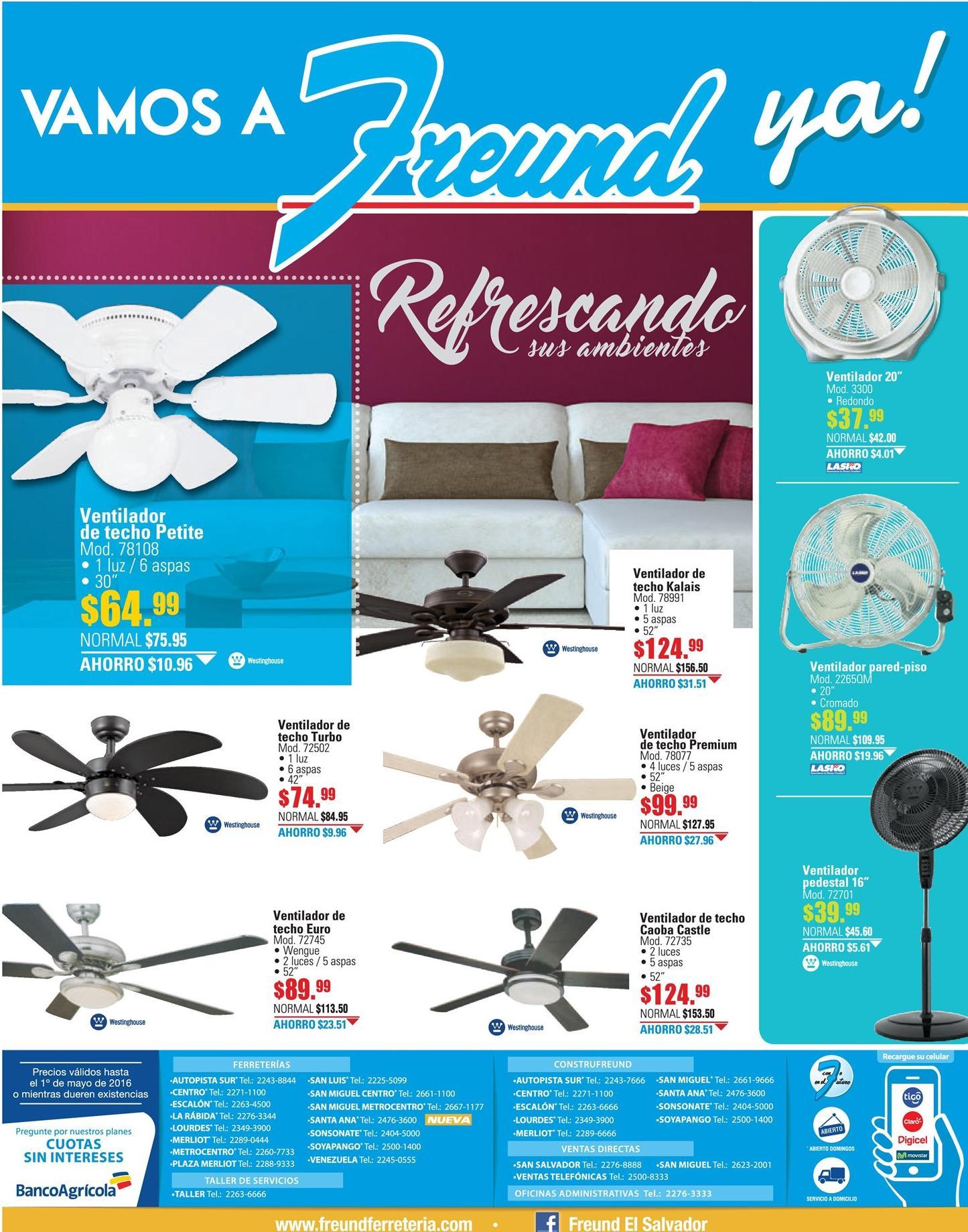 Freund temporada de calor ofertas en ventiladores para hogar y oficinas ofertas ahora - Ventiladores silenciosos hogar ...