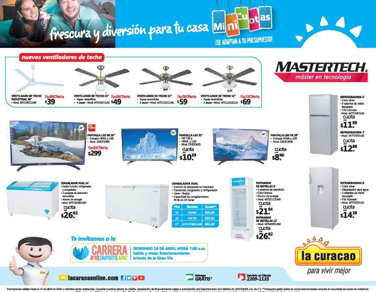 Frescura para el calor con MASTERTECH y promociones la curacao - 09abr16