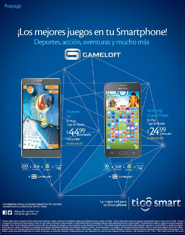 GAMELOFT best video games on smartphones TIGO