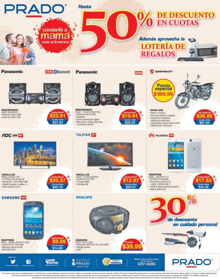 Loteria de regalos para mama en PRADO almacenes - 22abr16