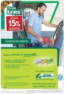 Lunes para llenar gasolina ccon 15 OFF de descuentos - 04abr16