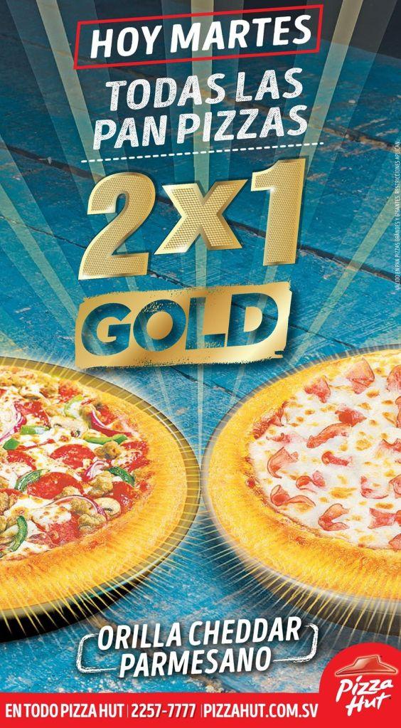 MARTES de pizza hut al 2x1 - 19abr16