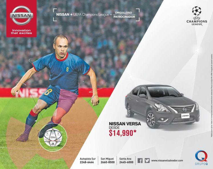 NISSAN Versa sponsor UEFA champion league