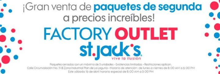 OJO -- Factoory OUTLET st jacks venta de paquetes y fardos