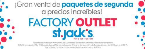 OJO -- Factoory OUTLET st jacks venta de paquetes y fardos