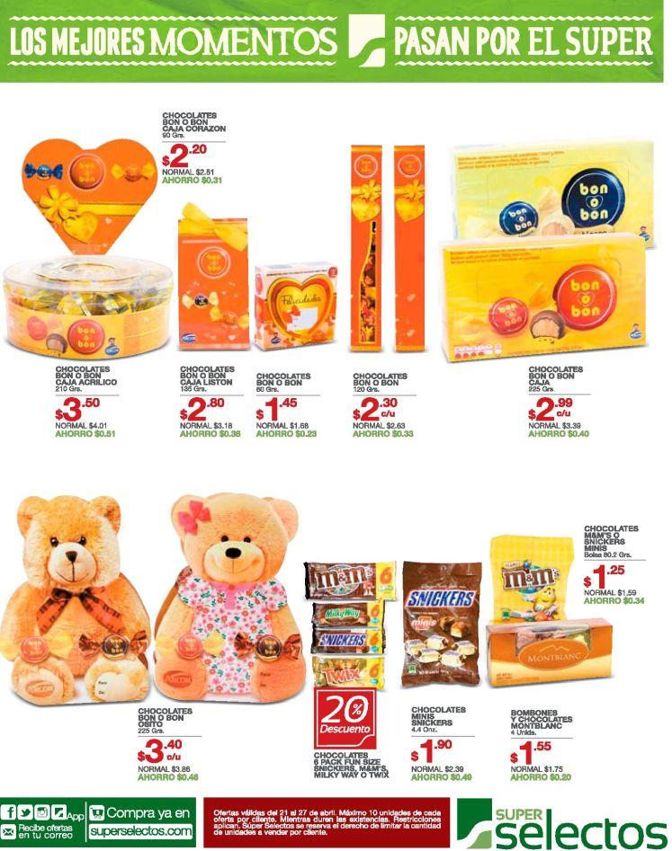 Ofertas en chocolates variedad de estilos y sabores - 21abr16